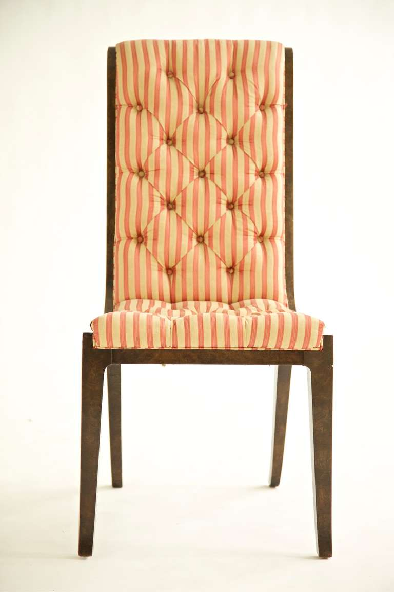 Set of Eight Mastercraft Dining Chairs In Good Condition For Sale In Chicago, IL