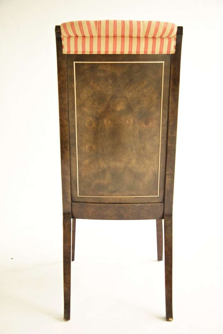 Late 20th Century Set of Eight Mastercraft Dining Chairs For Sale