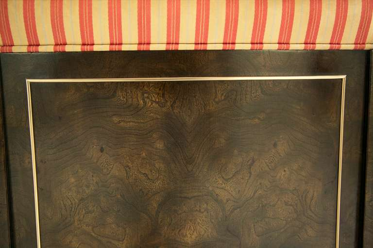 Brass Set of Eight Mastercraft Dining Chairs For Sale