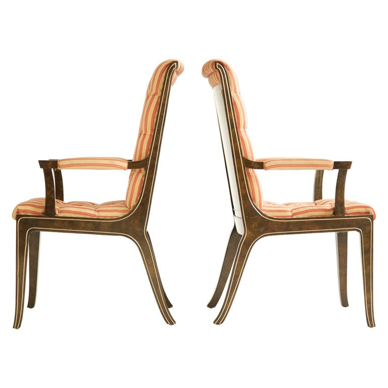 Set of Eight Mastercraft Dining Chairs For Sale