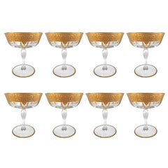 Set of Eight Mid-20th Century American Champagne Coupes