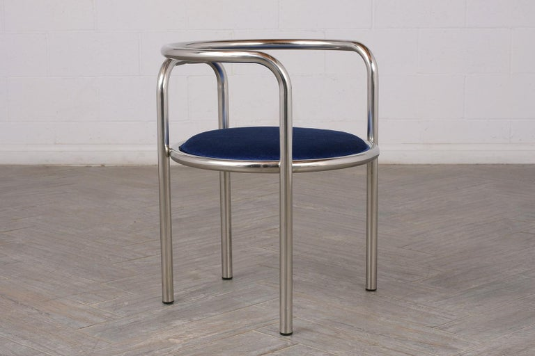 Late 20th Century Set of Modern Barrel Back Chairs For Sale