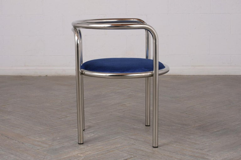 Set of Modern Barrel Back Chairs For Sale 3