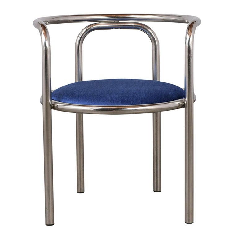 Set of Modern Barrel Back Chairs For Sale 1
