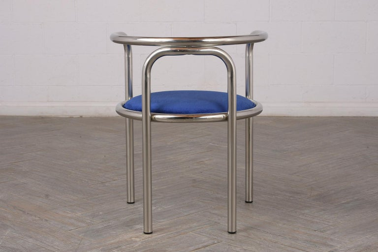 Set of Modern Barrel Back Chairs For Sale 4