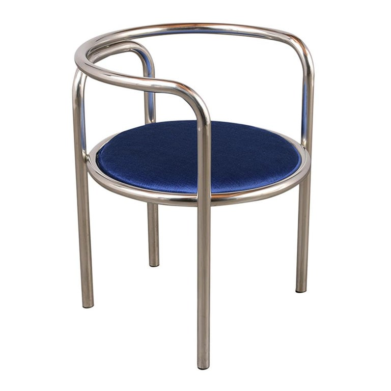American Set of Modern Barrel Back Chairs For Sale
