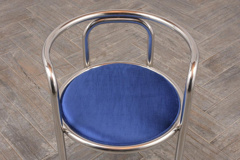 Set of Modern Barrel Back Chairs For Sale 2