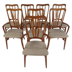 Set of Eight Midcentury Koefoeds Hornslet Dining Chairs