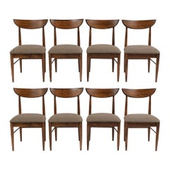 Set of Eight Mid-Century Modern Dining Chairs