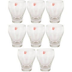 Set of Eight Mid-Century Modern Glass Drink Glasses by Holmegaard of Denmark