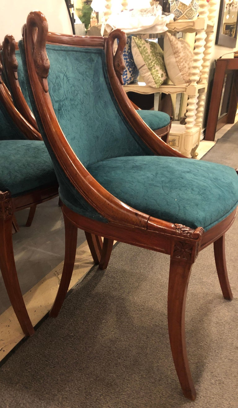 Set of Eight Mid-Century Modern or Federal Style Dining Side Chairs For Sale 4