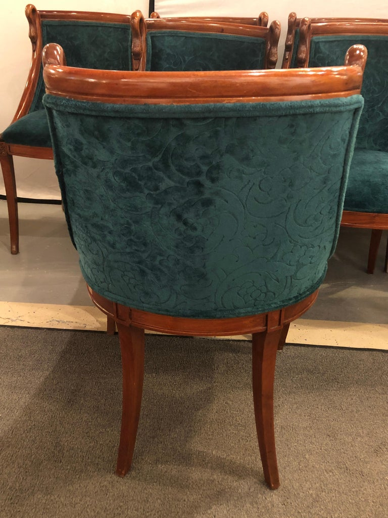 Set of Eight Mid-Century Modern or Federal Style Dining Side Chairs For Sale 3