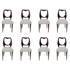 Set of Eight Midcentury Dining Chairs by Vittorio Dassi, Italy