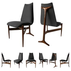 Set of Eight Modern Chairs by Giuseppe Scapinelli