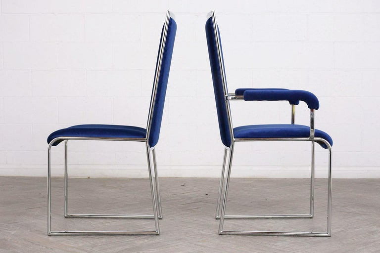 Vintage Set of Eight Modern Dining Chairs For Sale 5