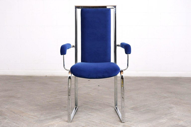 Late 20th Century Vintage Set of Eight Modern Dining Chairs For Sale