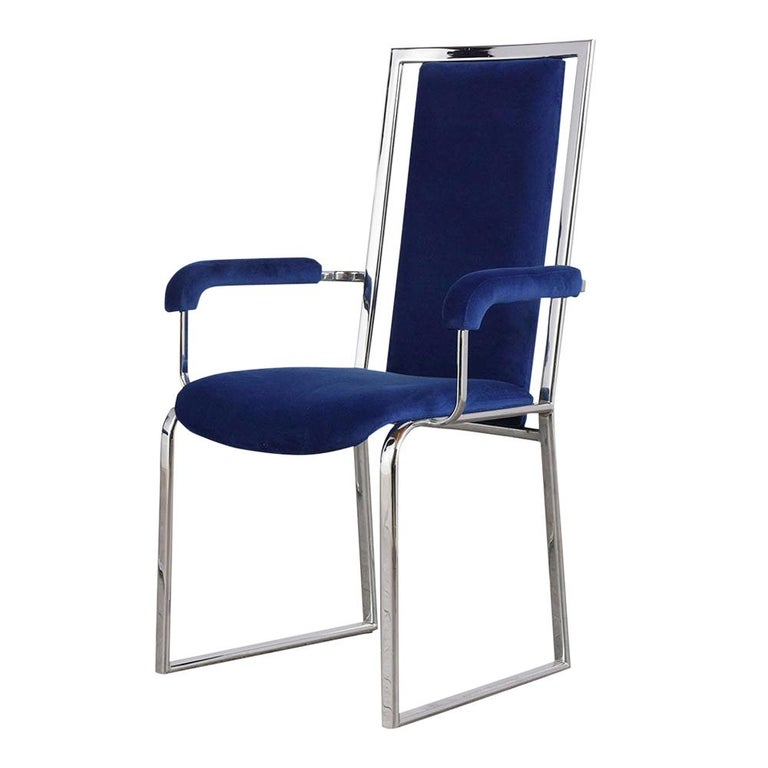 Vintage Set of Eight Modern Dining Chairs For Sale 1