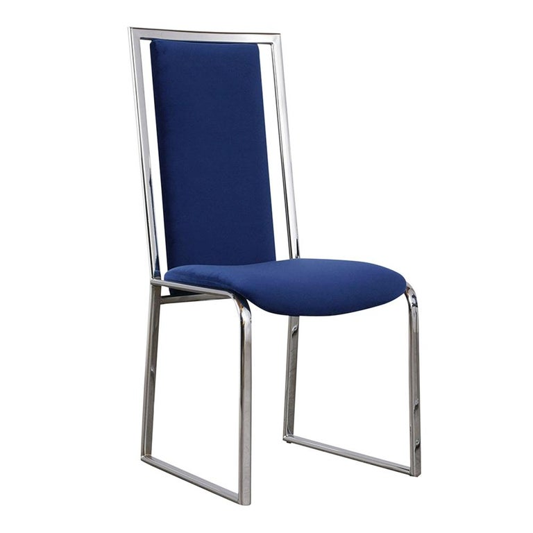 Vintage Set of Eight Modern Dining Chairs For Sale 3