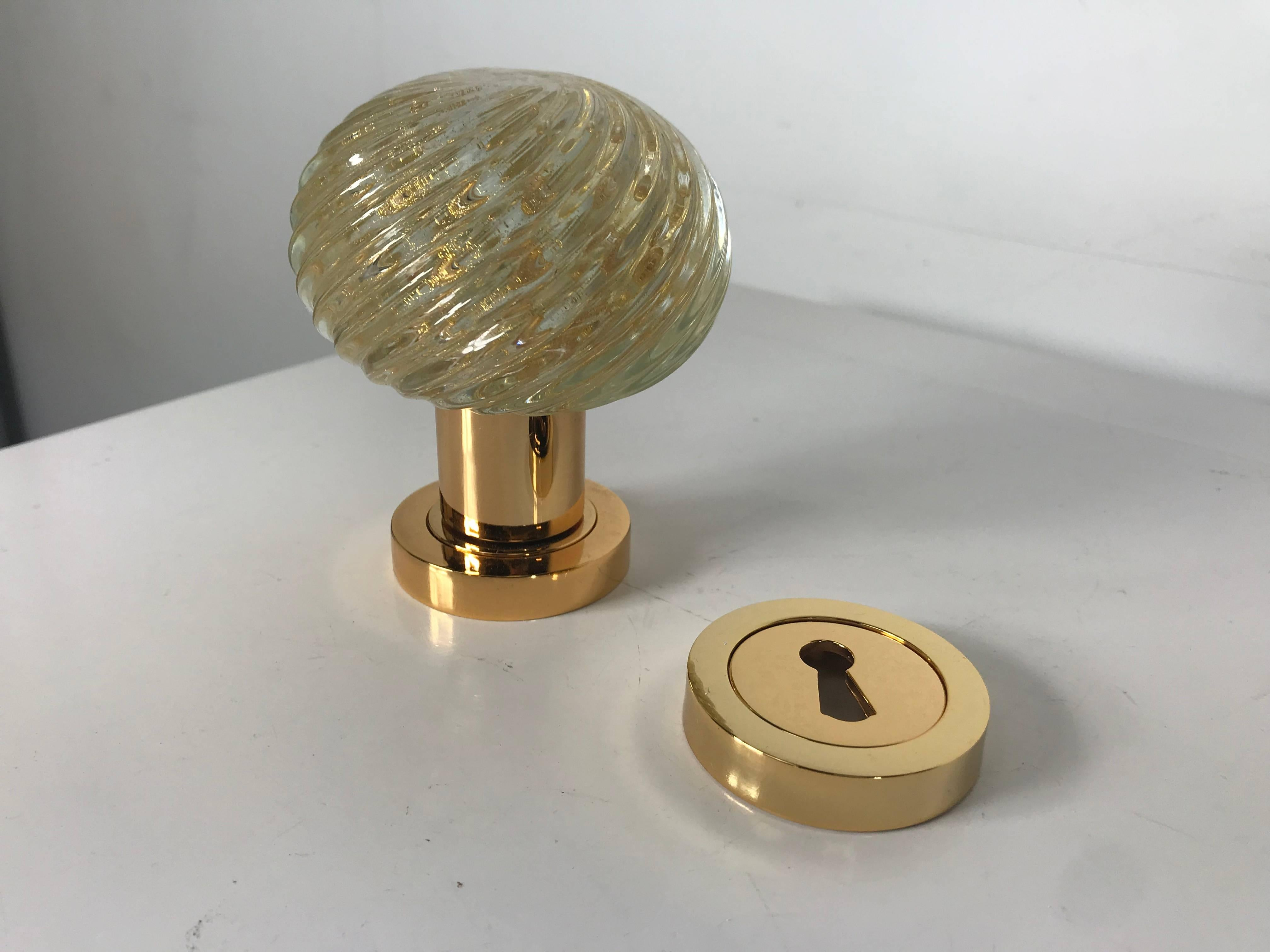 Set Of Eight Murano Glass Door Knobs Made In Italy By Barovier And Toso At 1stdibs