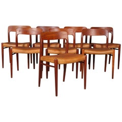 Set of eight N. O. Møller Dining Chairs