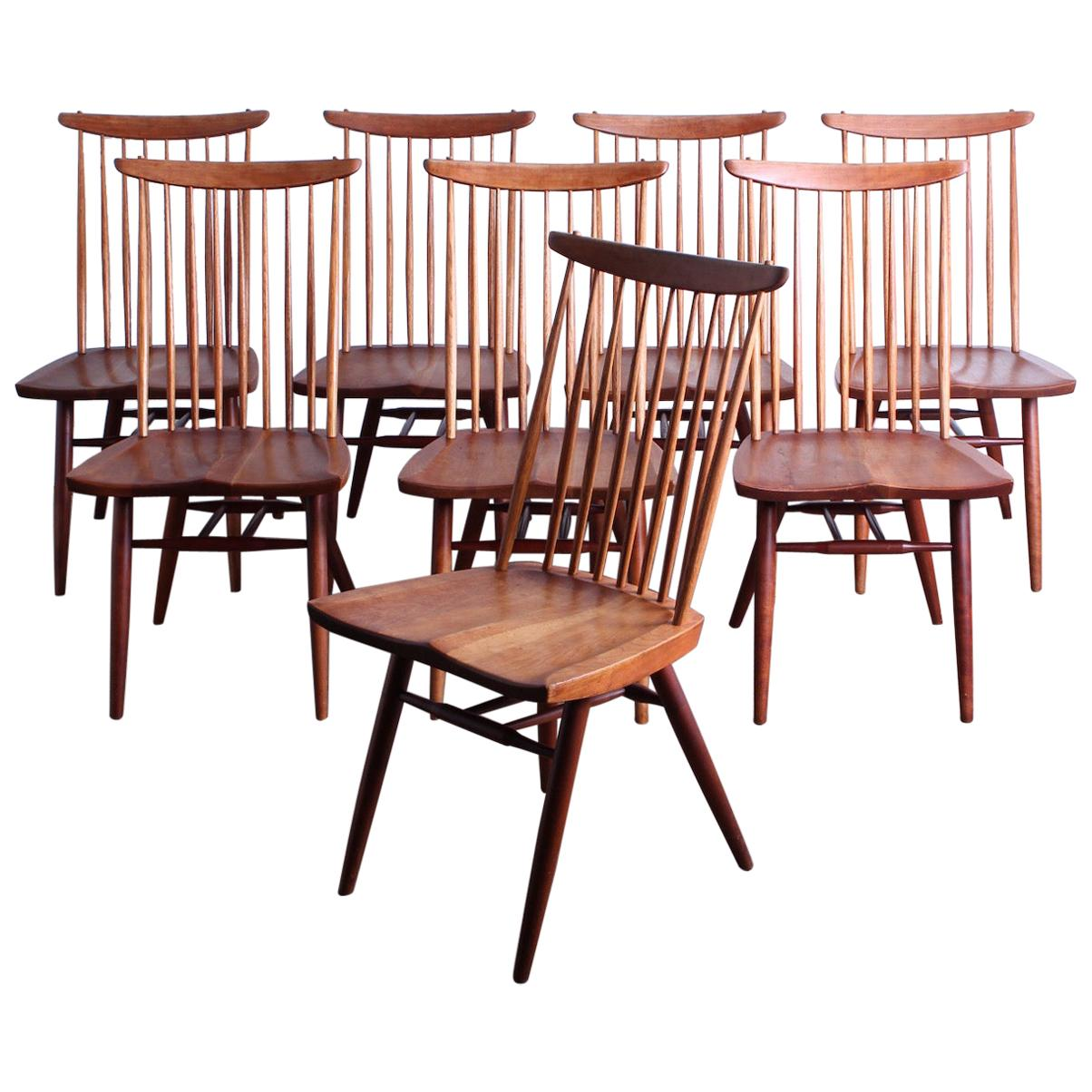 """Set of Eight """"New"""" Chairs by George Nakashima"""