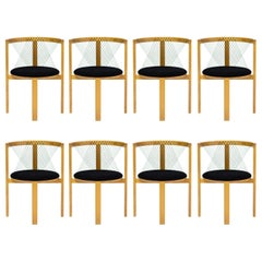 Set of Eight Niels Jørgen Haugesen String Chairs
