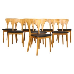 Set of Eight Niels Koefoed Dining Chairs