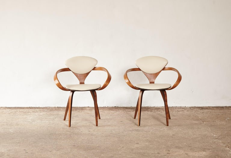 Set of Eight Norman Cherner Dining Chairs, Plycraft, USA, 1960s For Sale 3