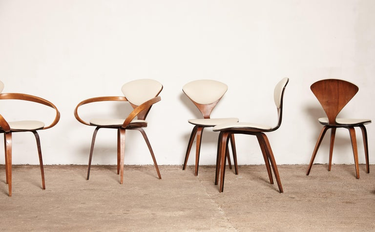 American Set of Eight Norman Cherner Dining Chairs, Plycraft, USA, 1960s For Sale