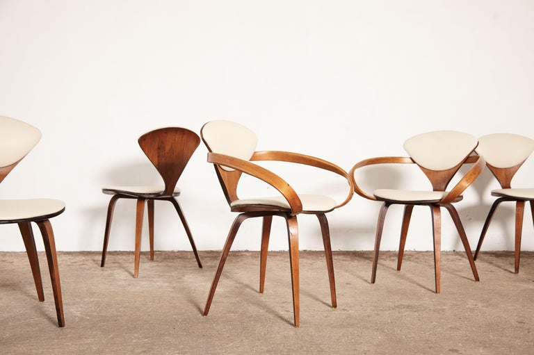 20th Century Set of Eight Norman Cherner Dining Chairs, Plycraft, USA, 1960s For Sale