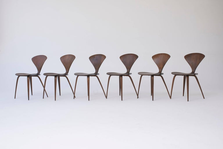 20th Century Set of Eight Norman Cherner Dining Chairs, Made by Plycraft in the USA, 1960s For Sale