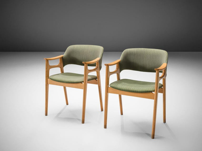 Scandinavian Modern Set of Eight Norwegian Dining Chairs For Sale