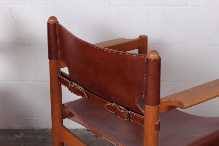 Set of Eight Oak and Leather Chairs by Børge Mogensen For Sale 9
