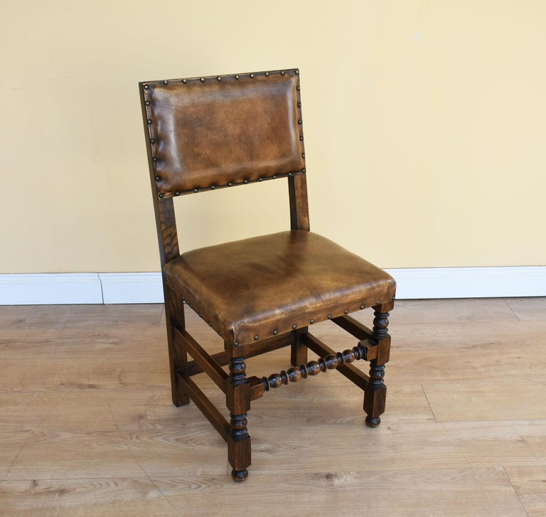 Dinette Chairs For Sale: Set Of Eight Oak Cromwellian Style Dining Chairs At 1stdibs