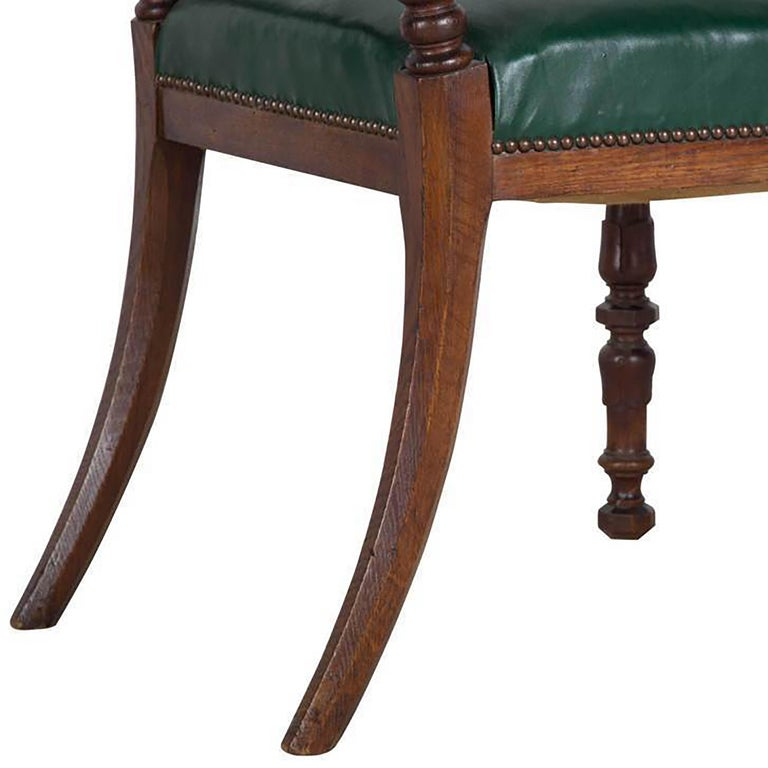 English Set of Eight Oak Dining Chairs For Sale