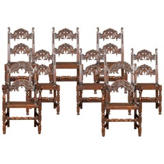 Set of Eight Oak Yorkshire Dining Chairs