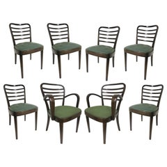 Set of Eight Original Josef Frank Bentwood Chairs, Six Sides and Two Arms
