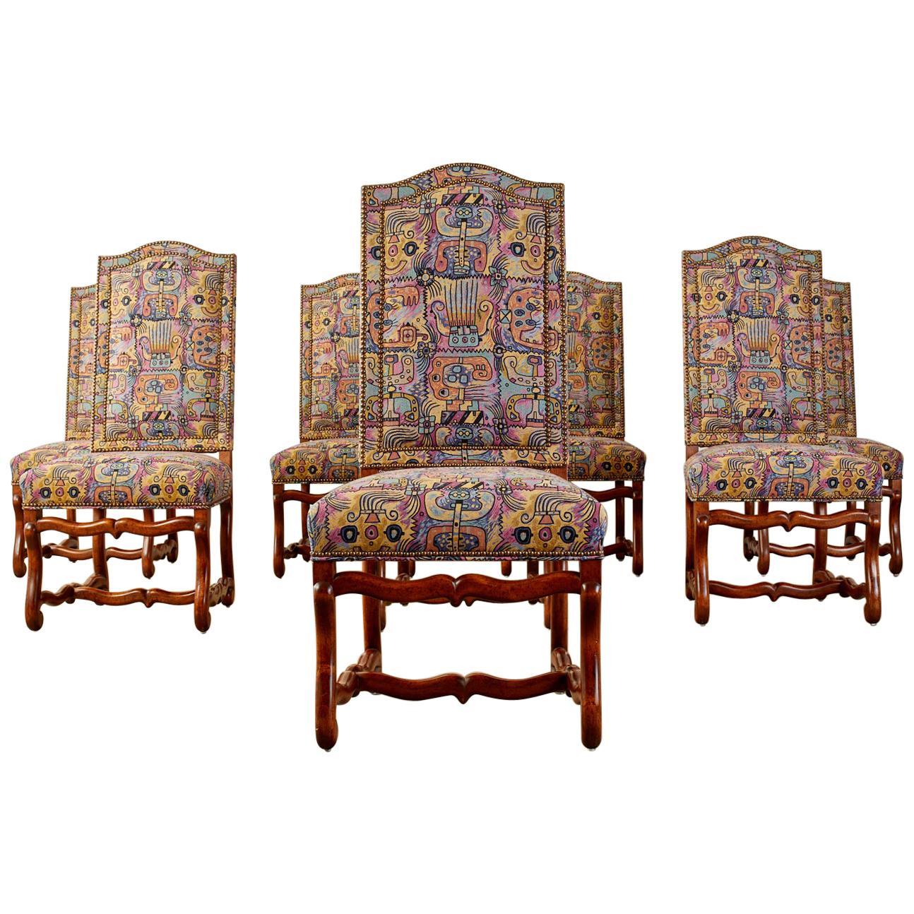 Set of Eight Os de Mouton Dining Chairs Modern Redux