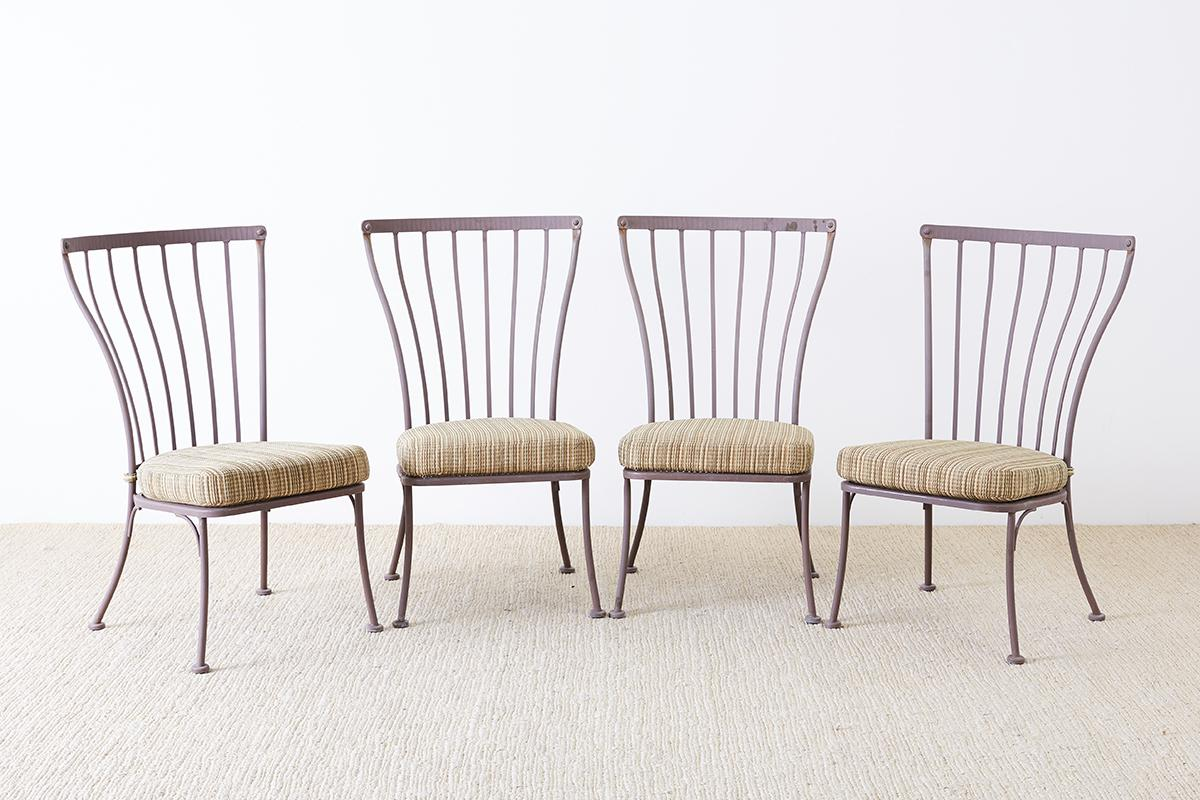 Large Set Of Eight Patio Garden Dining Chairs Made By California Artisans  O.W. Lee Monterra Collection