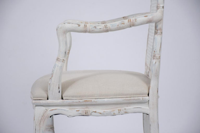Set of Eight Cane Dining Chairs For Sale 1