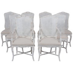 Set of Eight Cane Dining Chairs