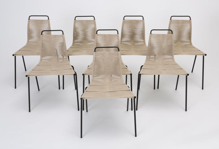 Scandinavian Modern Set of Eight PK-1 Dining Chairs by Poul Kjaerholm For Sale