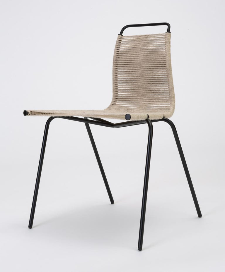 Rope Set of Eight PK-1 Dining Chairs by Poul Kjaerholm For Sale