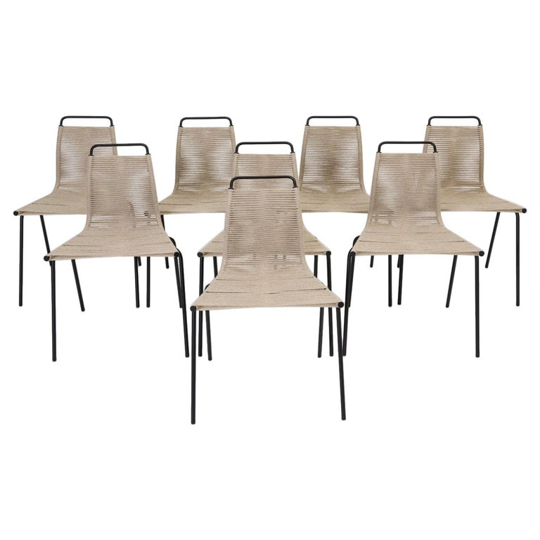 Set of Eight PK-1 Dining Chairs by Poul Kjaerholm For Sale