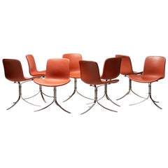 Set of Eight PK9 Chairs by Poul Kjaerholm for Fritz Hansen