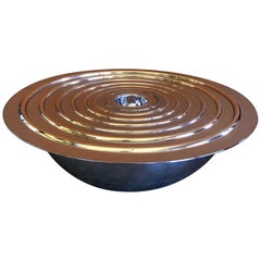 "Set of Eight Polished Steel ""Planetarium"" Nesting Bowls by Seraphini"