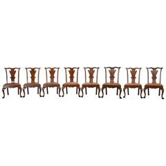 Set of Eight Ralph Lauren Queen Anne Chairs, 20th Century
