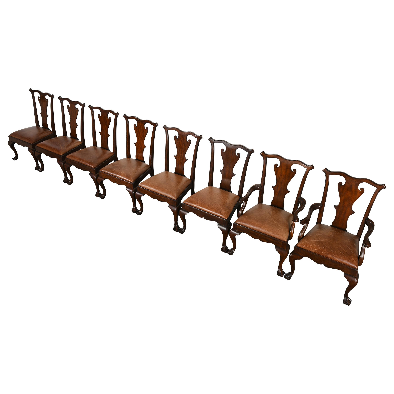 Set of Eight Ralph Lauren Queen Anne Chairs, 20th Century