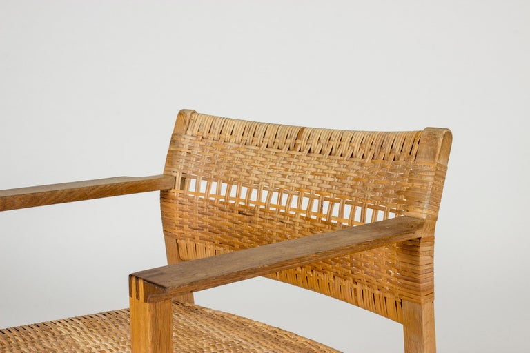 Set of Eight Rattan Dining Chairs by Børge Mogensen For Sale 6