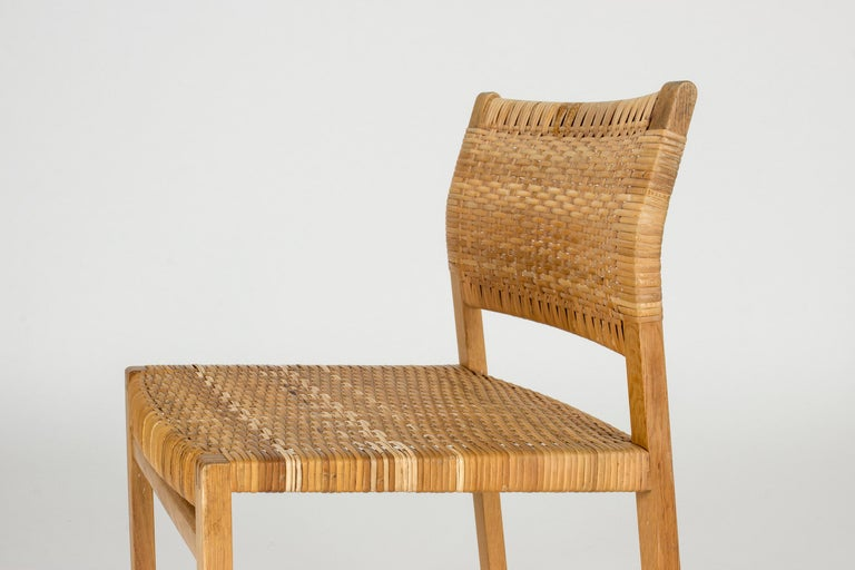 Set of Eight Rattan Dining Chairs by Børge Mogensen For Sale 2